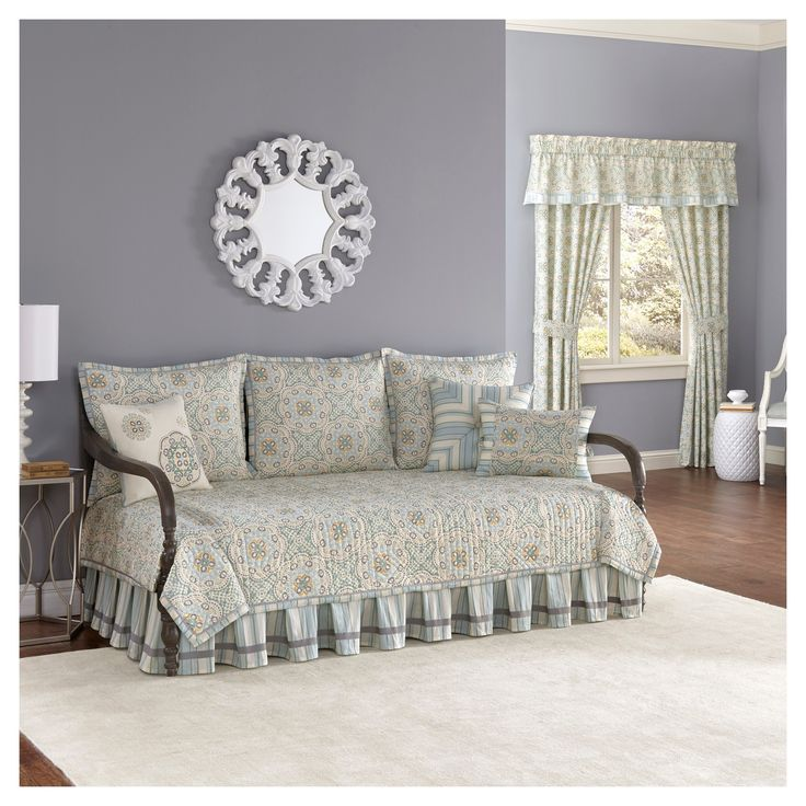 Blue Astrid Reversible Daybed Set 5pc - Waverly