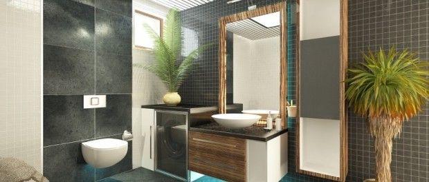 Pflanzen im Badezimmern geben mehr Wohnfühlfaktor und zaubern ein tropisches Flair.