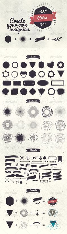 Badge Creator Kit - Decorative Vectors #WebDesign #GraphicDesign #Print