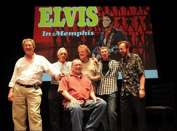 "Chips Moman and the Memphis Boys are honored by the Memphis Grammy chapter for their defining work on Elvis Presley's ""Suspicious Minds"" on August 15, 2009, at the Cannon Center. Image Credit: Red Kelly Blogspot"