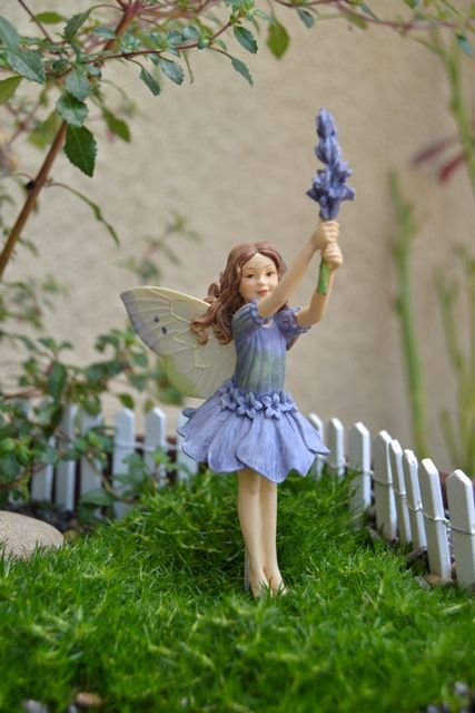 fairy figurines for gardens | Cicely Mary Barker Flower Fairy Lavender