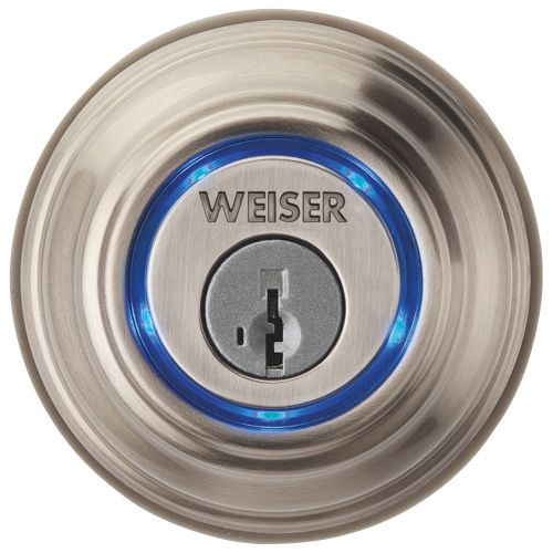 Serrure à pêne dormant Kevo activée par Bluetooth de Weiser (FG1500) - Nickel satiné