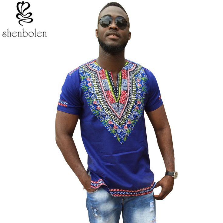 2016 الصيف الخريف الرجال الملابس الأفارقة dashiki ملابس تريكو خياطة الباتيك الطباعة قصيرة الأكمام قمم رجل t قميص