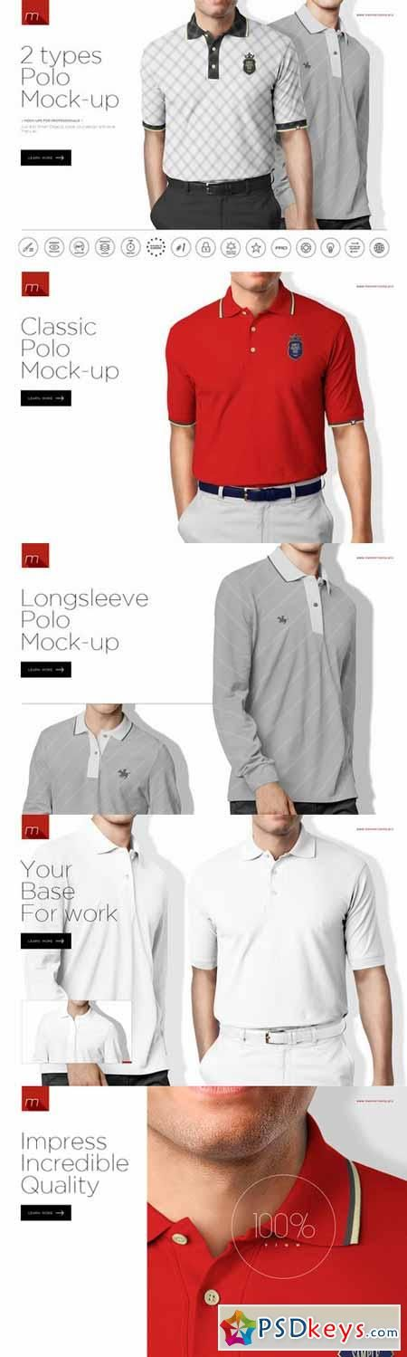 Polo Shirt (2 types) Mock-up 450547