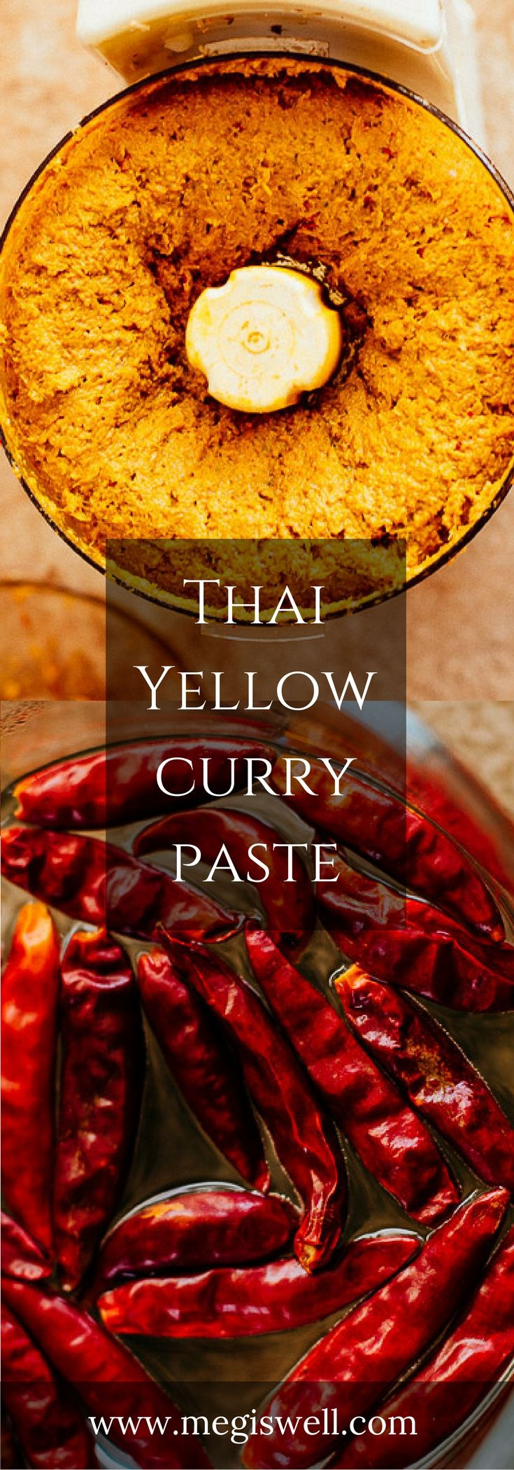 Although making your own Thai Yellow Curry Paste from scratch seems intimidating, this recipe breaks it down into manageable steps. You'll never have to buy store bought curry paste again and the effort is well worth the rewards. | www.megiswell.com