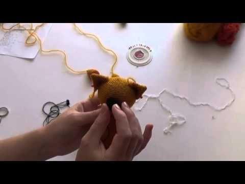Как оформить мордочку вязаной игрушке