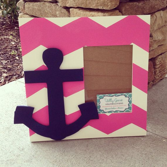 Anchor hand painted picture frame on Etsy, $36.00