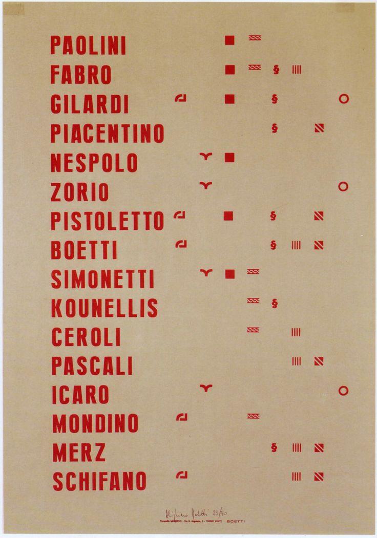 Alighiero Boetti, Manifesto, 1967, Archivio Alighiero Boetti