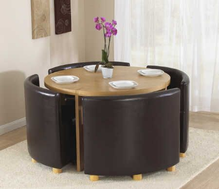 Round Table With Chairs That Fit Under Google Search