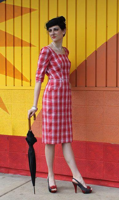 Beatrice Kangaroo Pocket Dress by Sew Chic Pattern Company
