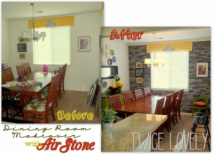 AirStone Wall Dining Room Makeover