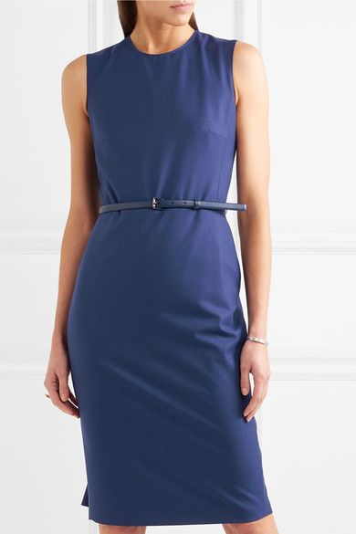 Max Mara - Wool-blend Dress - Blue - UK14