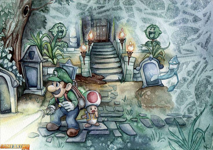 Luigis Mansion 2 Dark Moon Art