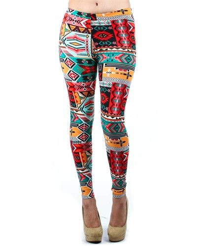 Plus Size Multi Colored Trial Print Fleece LIned Leggings