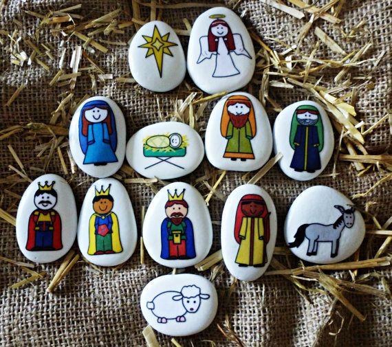 Conjunto piedra de la historia de Natividad por STORYSTONESLOU