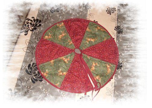 Mi rinconcito de labores: Pie de árbol de patchwork