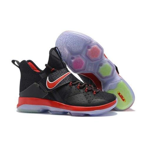 Nike Lebron 14 Mens Black Red Basketball Shoes