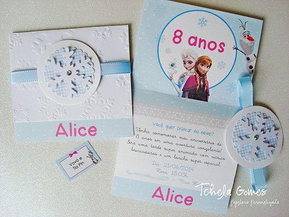 Convite personalizado tema Frozen