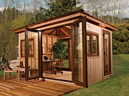 Backyard Office Or Little Guest House? Outdoor Office ...