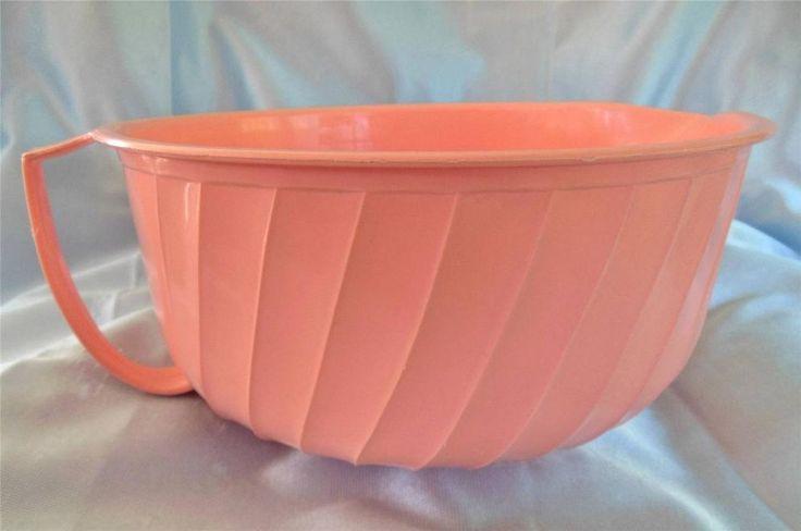Big Vtg 2 1 2 Qt Shamrock Neatway Plastic Peach Pink
