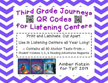3rd Grade Journeys QR Codes for Listening Centers
