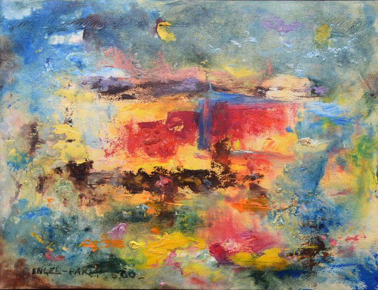 """Ernest ENGEL-PAK (1885-1965) """"Penssées""""- 24 x 31 cm - Huile sur carton - 1960. Galerie Intuiti Paris/Bruxelles (Exposition Mai et Juin 2015 dans les Galeries INTUITI)"""