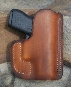 Glock 42 pocket holster - Jackson LeatherWork, LLC. We are currently producing pockets, wallets, IWBs and OWBs for the Glock 42.