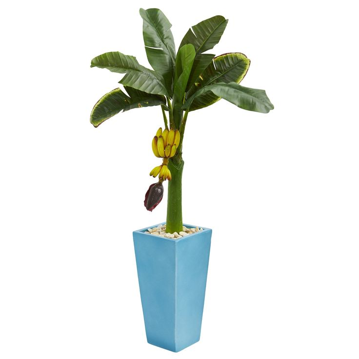 Nearly 4' Banana Artificial Tree in Tower Vase