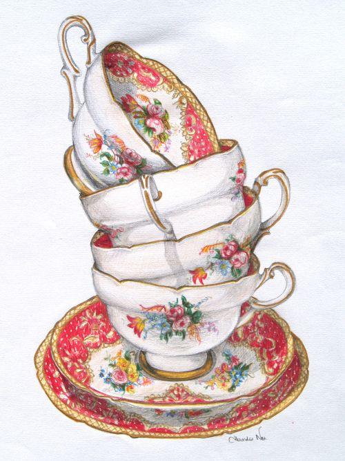 Stack of Teacups - Alexandra Nea