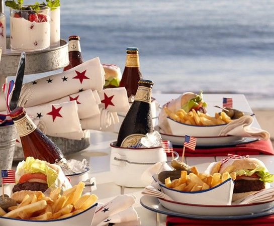 Cute boats and beverage holders....looks like Pottery Barn but there is no link.