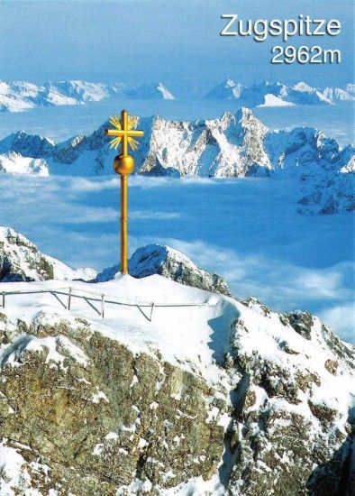 Zugspitze, Germany    Above the clouds at the top of the world!