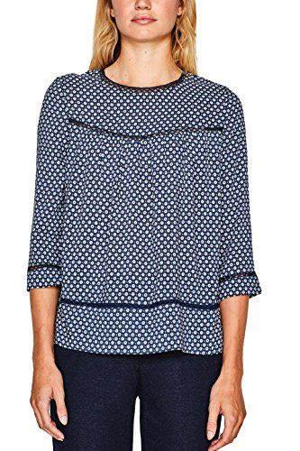 ESPRIT Damen Bluse 097EE1F002 Mehrfarbig (Navy 400) 36.  apparel  shirt . 8d70e7baf8