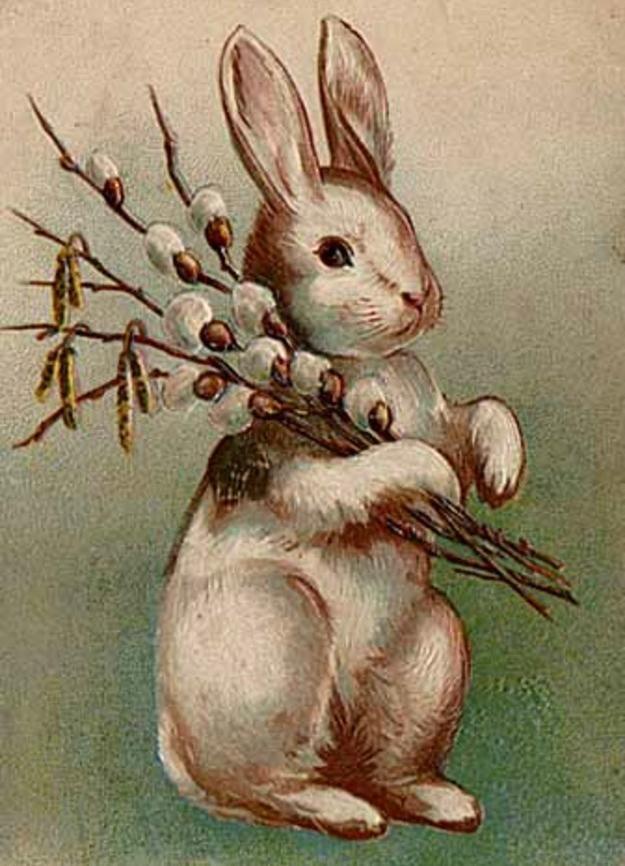 Рабочий, открытки и картинкой зайца