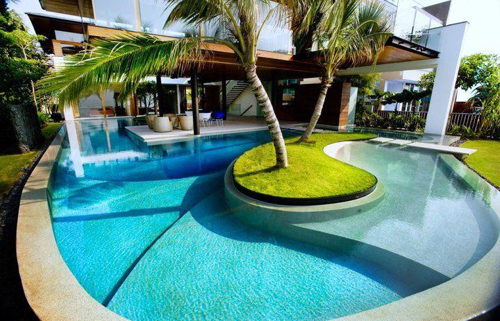 Adorar essa piscina! A casa dos peixes em Singapura – por Guz Architects   – Garden & Co.
