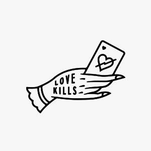 Love Kills by The BlkSmith Design Co. #design #branding #logo