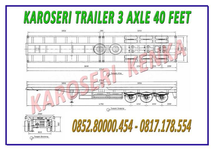 KAROSERI TRAILER 40 FEET >> KAROSERI KENKA