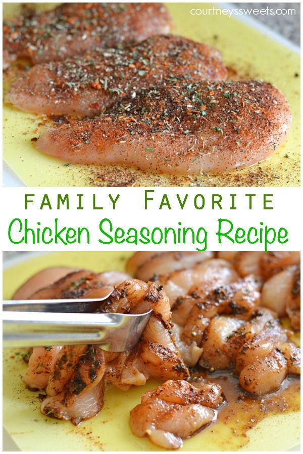 This chicken seasoning recipe is my absolute favorite and goto recipe for chicken breast.  I even use it on drumsticks, thighs and even steak!  It's super simple to put together this chicken seasoning recipe rub is also perfect for bbq and grill chicken.