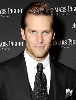 Tom Brady wearing a pinned collar
