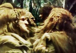 GIF  Fili & Kili in Desolation Of Smaug // See how Fili jumped in front of Kili? Now I have an urge to put a few dwarves in my novel...maybe brothers...by coincidence... ;)