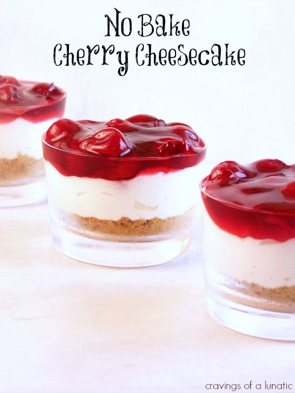 No Bake Cherry Cheesecake | Cravings of a Lunatic | My family's favourite cheesecake!