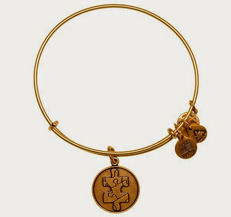 Alex and Ani Piece of the Puzzle Charm Bangle (benefits the National Autism Society)