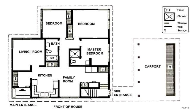 7 Free Floor Plans for Small Houses: The Snoqualmie House Plans:  Second Bathroom Added