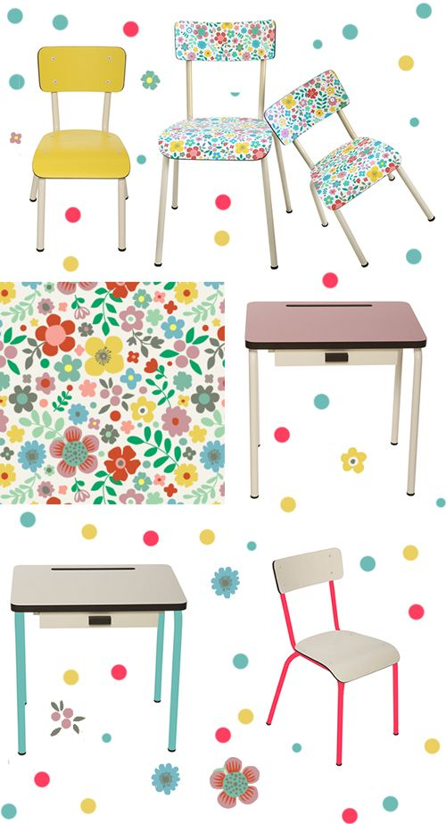 Les Gambettes - childrens desks and chairs
