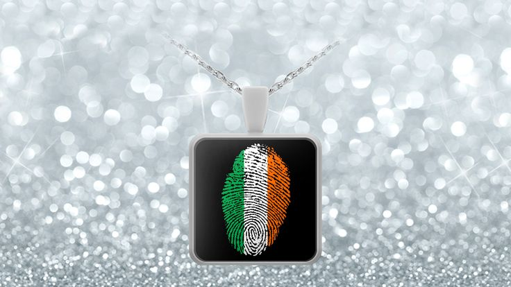 * JUST RELEASED *This unique design is stylish and simple. A single fingerprint in the colors of the Irish flag shows your feelings for the country and the heritage within you.On a black background the vibrant colours and unique design make this a piece of jewellery you will be proud to wear on any occasion.Limited Time OnlyThis itemis NOT available in stores.Guaranteed safe checkout:PAYPAL | VISA | MASTERCARDClickBUYIT NOWTo Order Yours!Designed in Irelan...