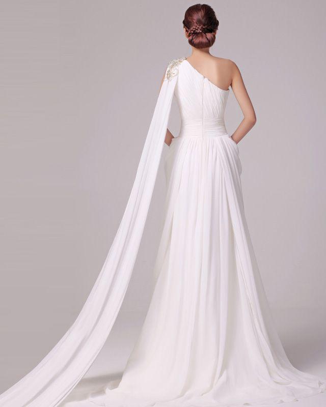 Grecian Style Wedding Gown: Grecian Wedding Dress - Back