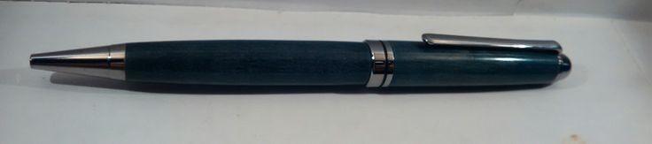 Penna+a+sfera+in+legno+di+noce++di+Regali+Artigianali+Da+Devis++su+DaWanda.com