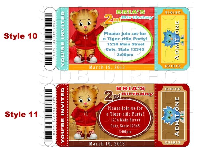 Daniel Tiger Invitation, Daniel Tiger Party, Daniel Tiger Birthday, Daniel Tiger Printables. $9.99, via Etsy.