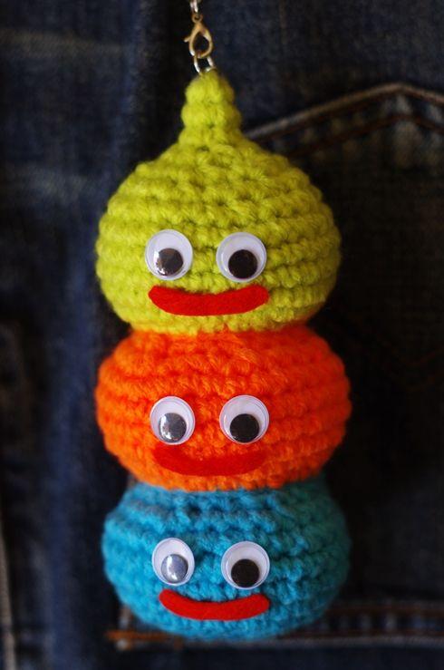 ぬーん 編み方よりスライムのお絵かきに没頭してましまった! スライムタワーの編み...
