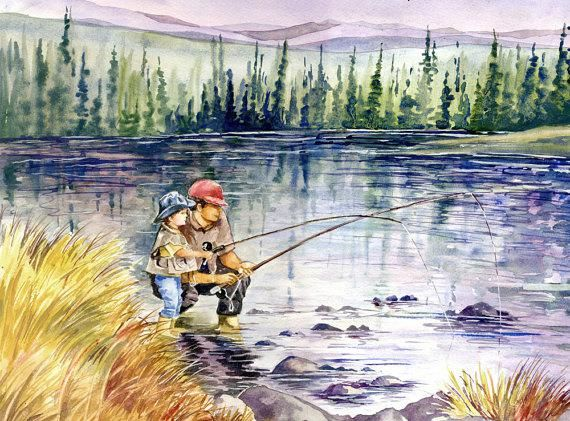 Tips On Fly Fishing With Images Fly Fishing Art Fish Painting