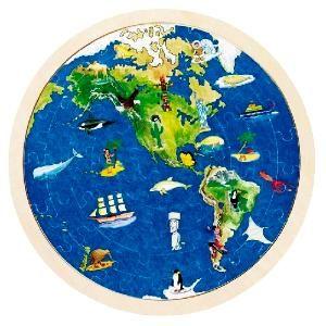 Puzzle carte du monde pour construire une planisphère et découvrir les merveilles du monde, naturelles ou construites par l'homme. #puzzlecartedumonde